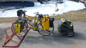 Side profile of my bike and trailer