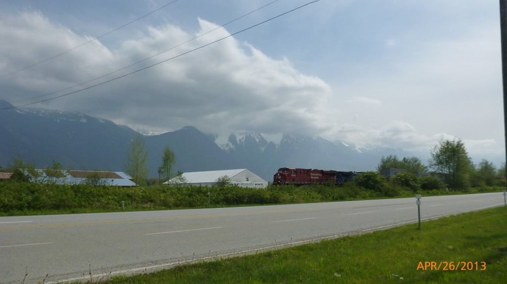 View of mountains north of Aggassiz