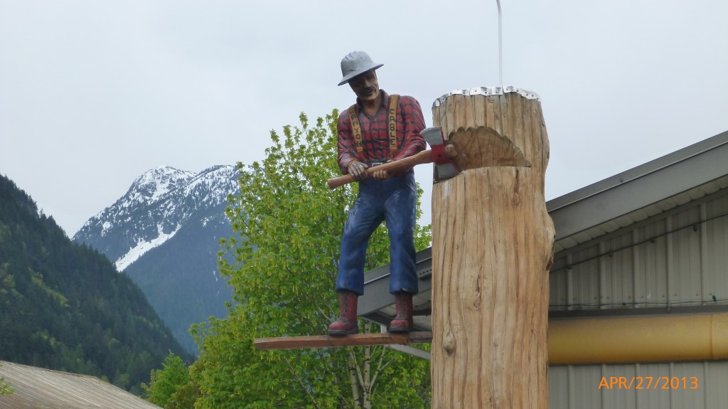A lumberjack in Hope