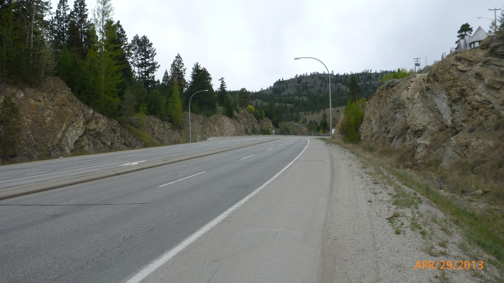 Hwy 97 between Penticton and West Kelowna