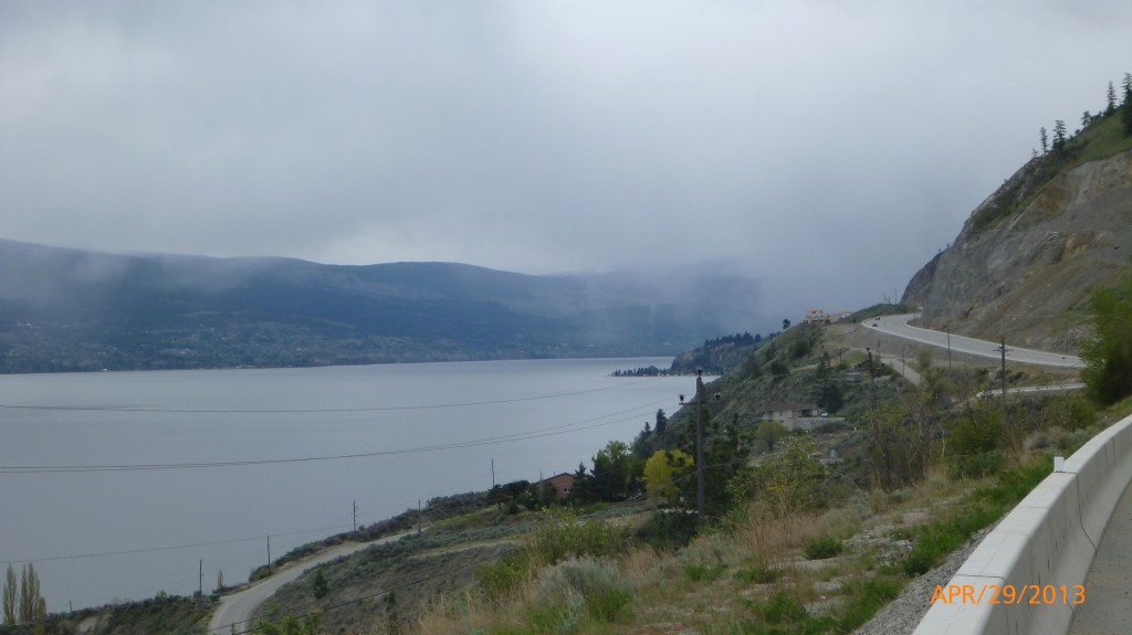 View along Hwy 97 between Penticton and West Kelowna