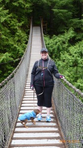 Dash and I on the Lynn Canyon Suspension Bridge