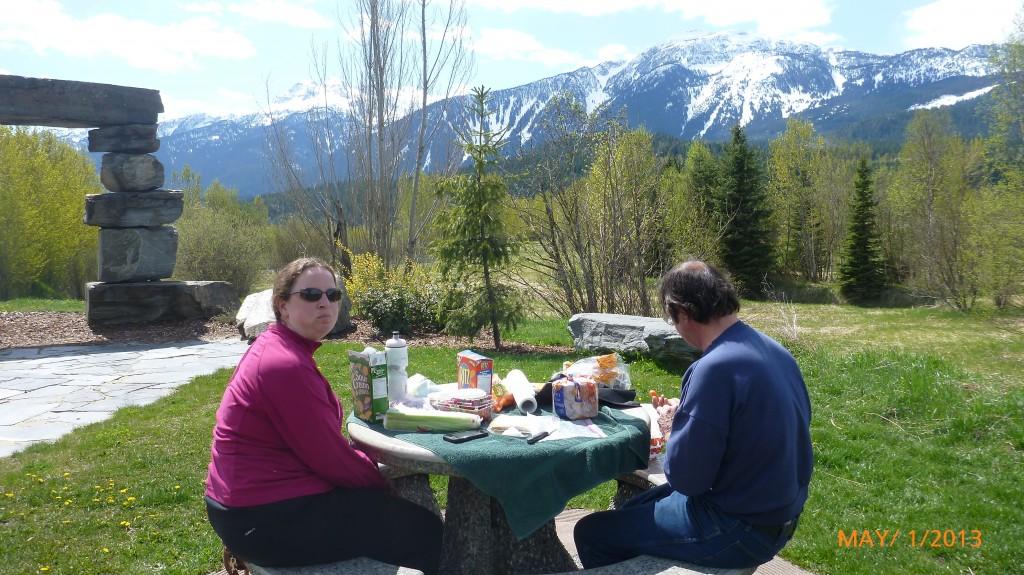 Picnic lunch in Revelstoke