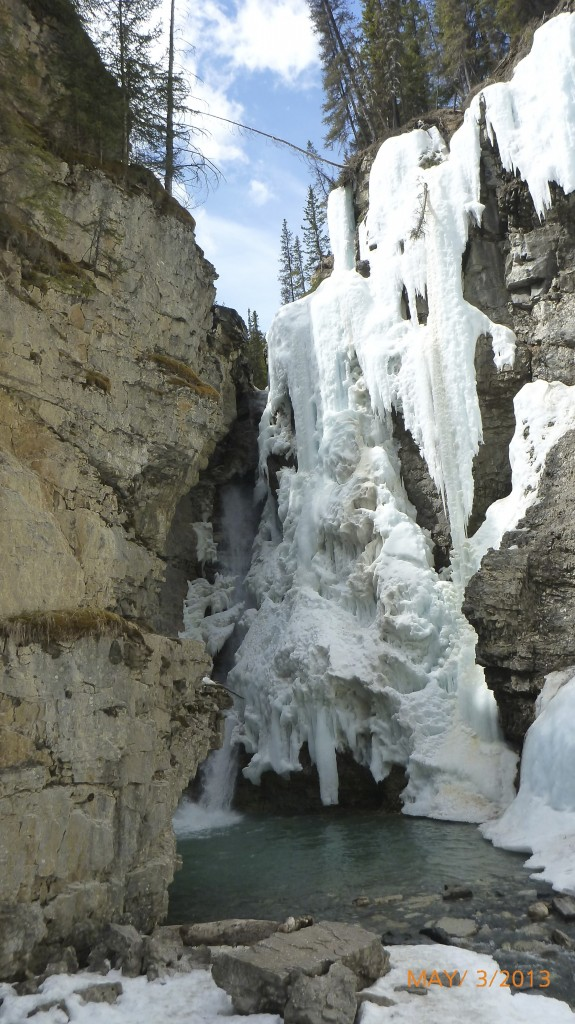 Upper falls at Johnson Creek Trail