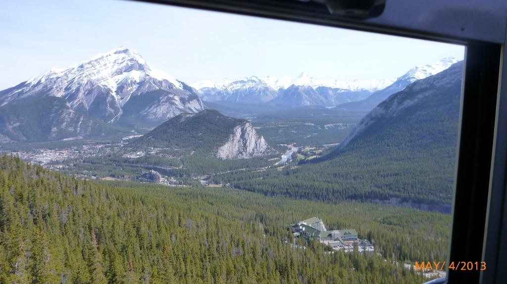 Part way up the Banff Gondola