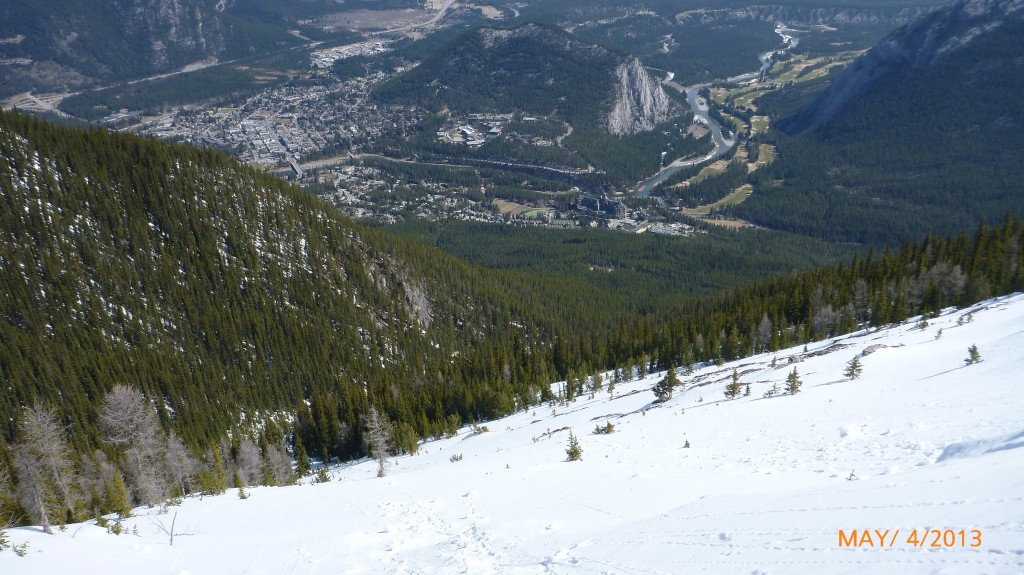 Sulphur Mountain - looks like a good tobogan ride if the trees weren't there!