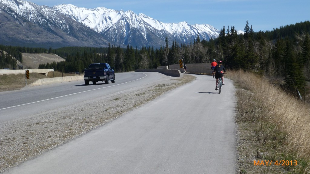 Trail between Banff and Canmore