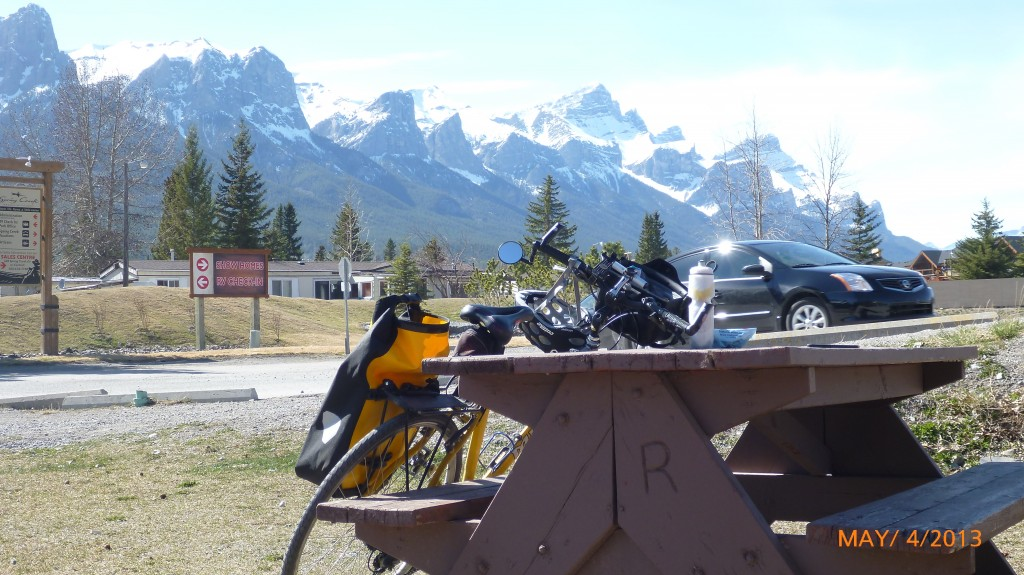 Waiting at the campground in Canmore while my parents re-stocked a handful of groceries