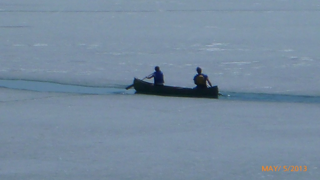 The same two canoeists - still above water!