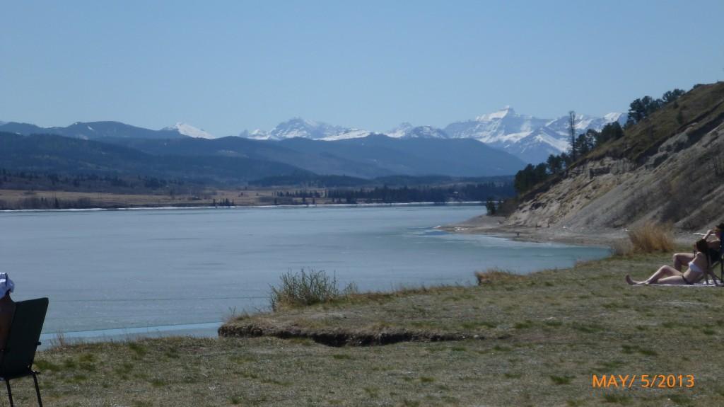Ghost Lake reservoir