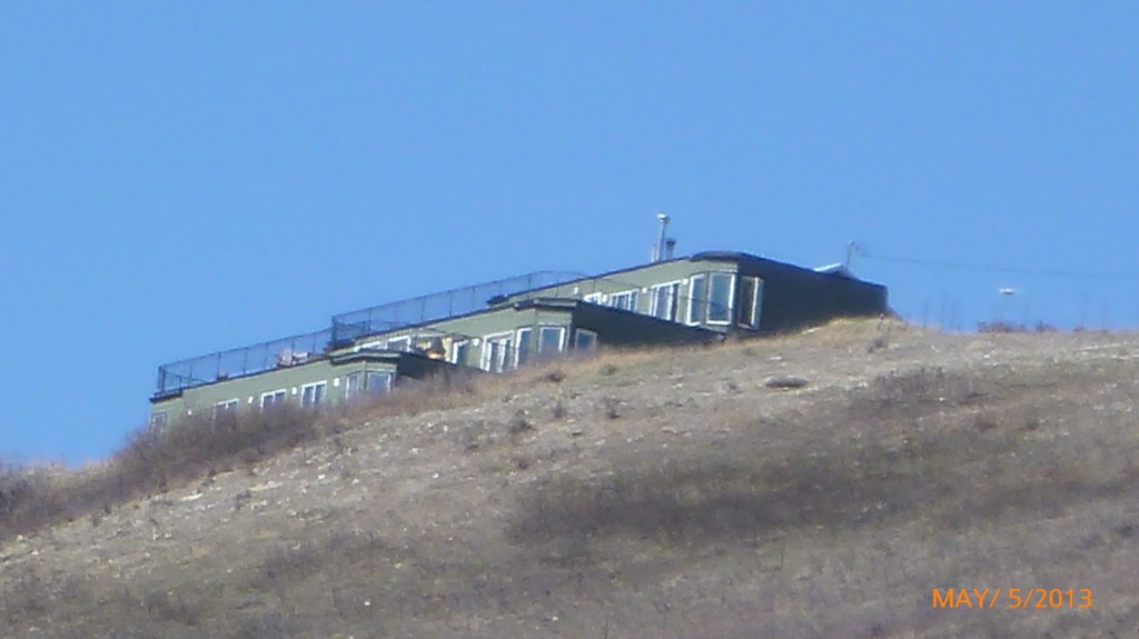 A house built into the hill