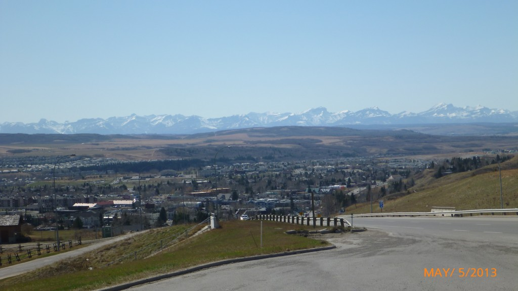 A look at Cochrane from half way up the hill