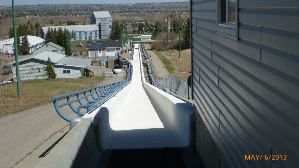 Top view of a shorter track