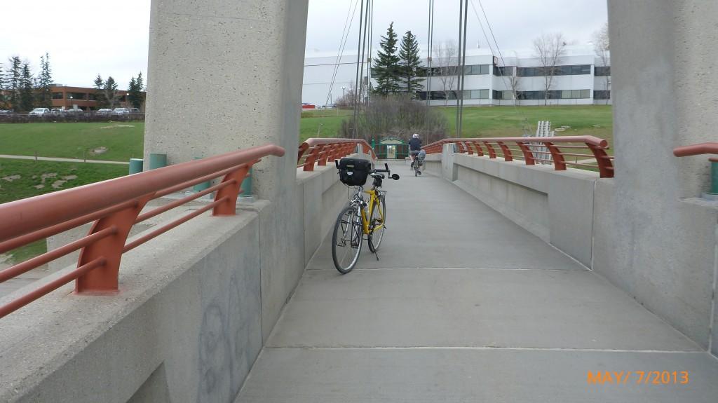 My bike on said bridge!