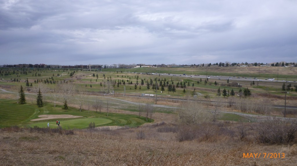 The sparse terrain in north Calgary