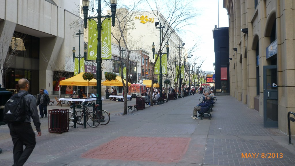 A pedestrian street in Calgary