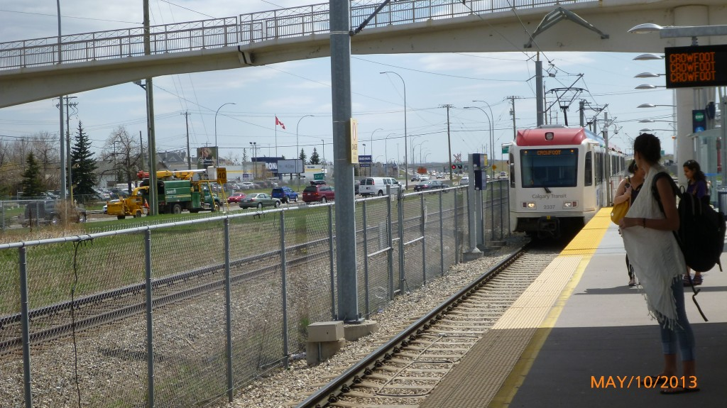 C-Train in Calgary - the transit system was very easy to navigate