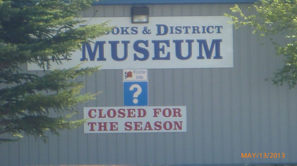 Still the theme of the trip - 'closed for the season'