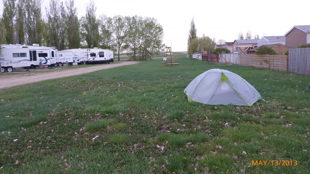 With all the RV's it makes me think the tent doesn't belong...