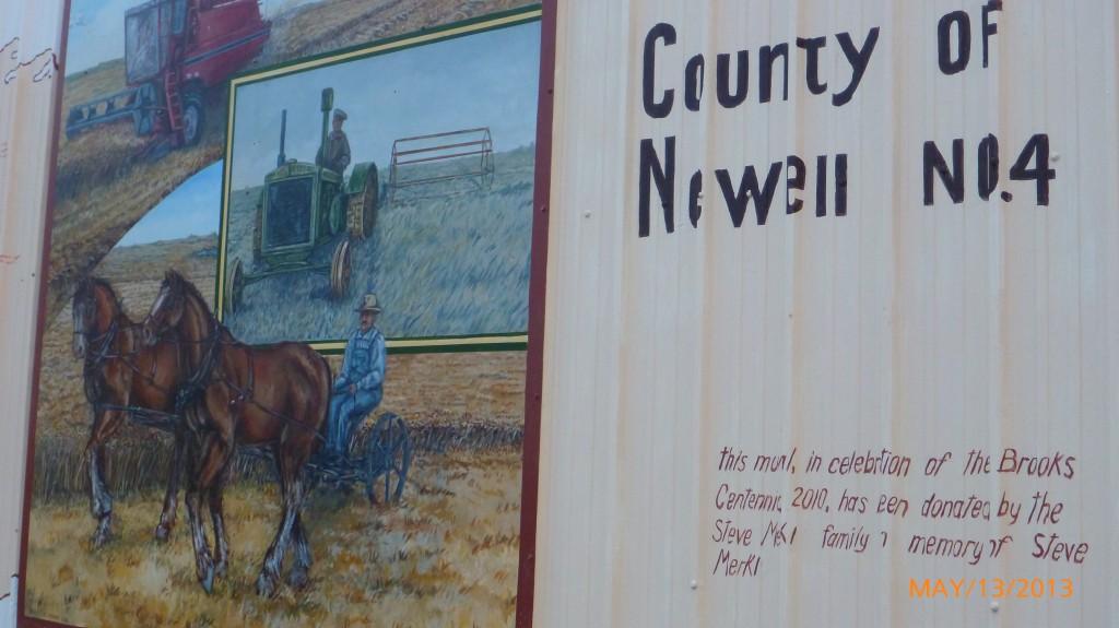 A mural in Brooks