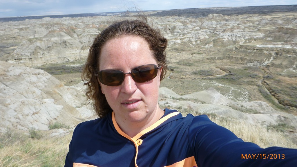 Me in front of the badlands