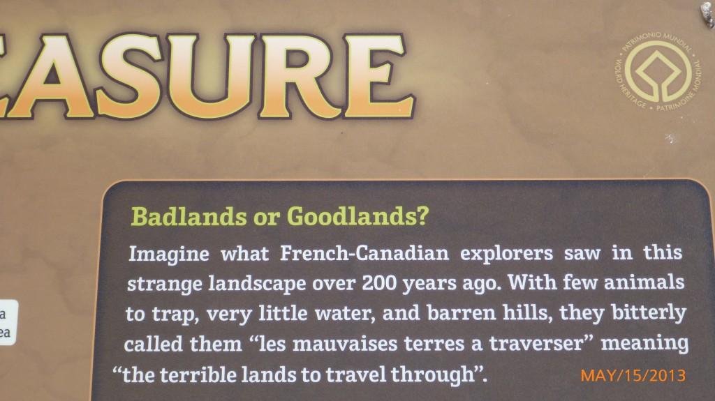 How the badlands got their name