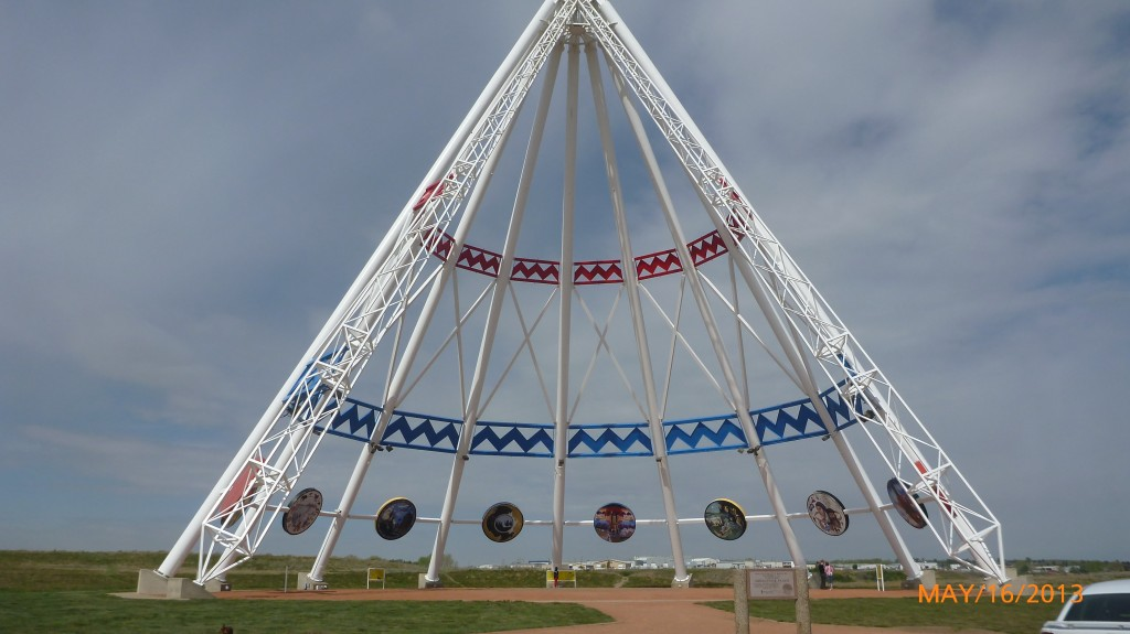 World's Largest Tippee.  Created for the 1988 olympic games in Calgary, since relocated to Medicine Hat
