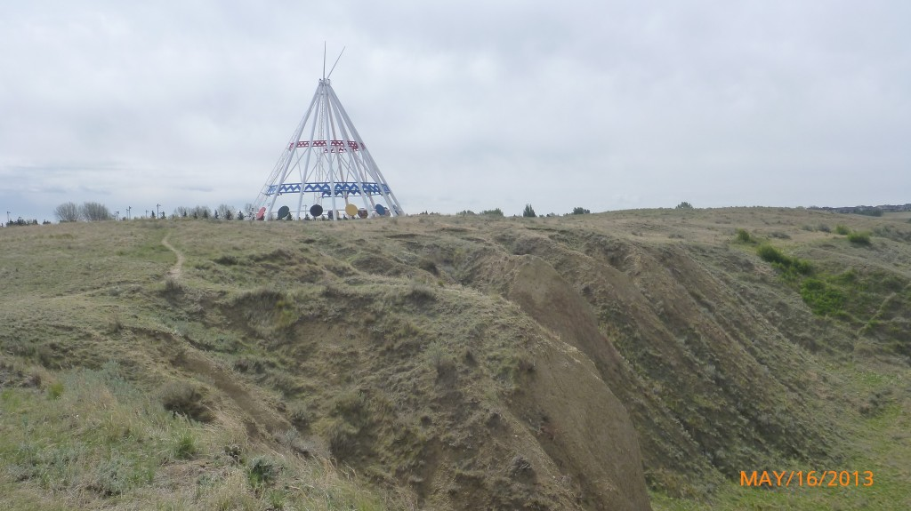Worlds' Tallest Tippee - meant to symbolize Canada's past with First Nations people