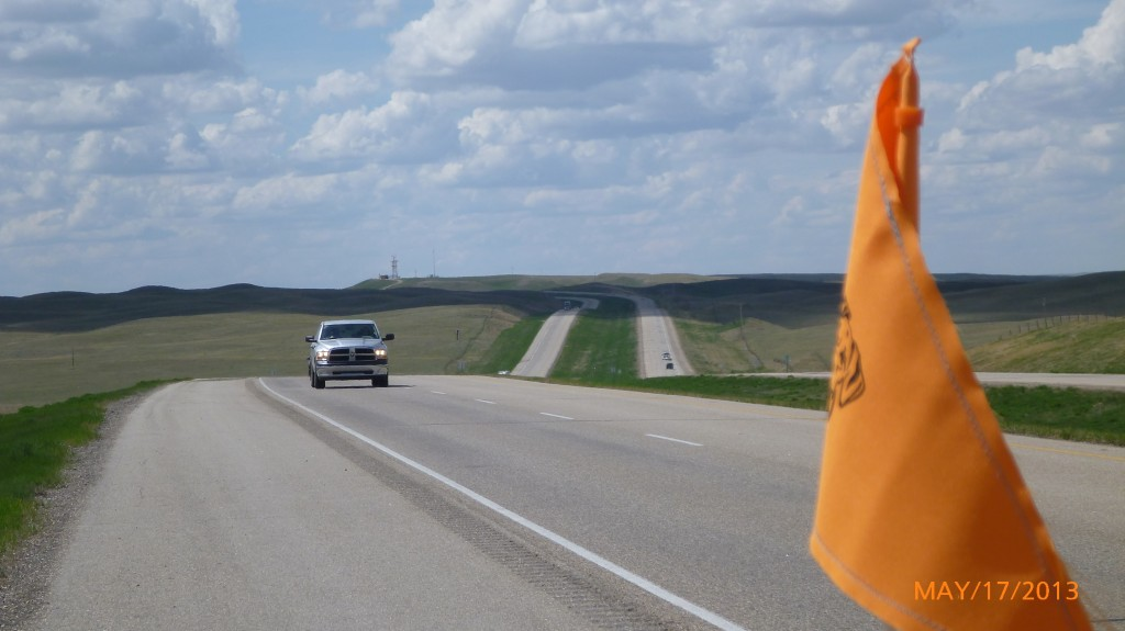 The hills continue in Saskatchewan