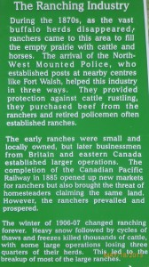 Some history on the ranches in Saskatchewan