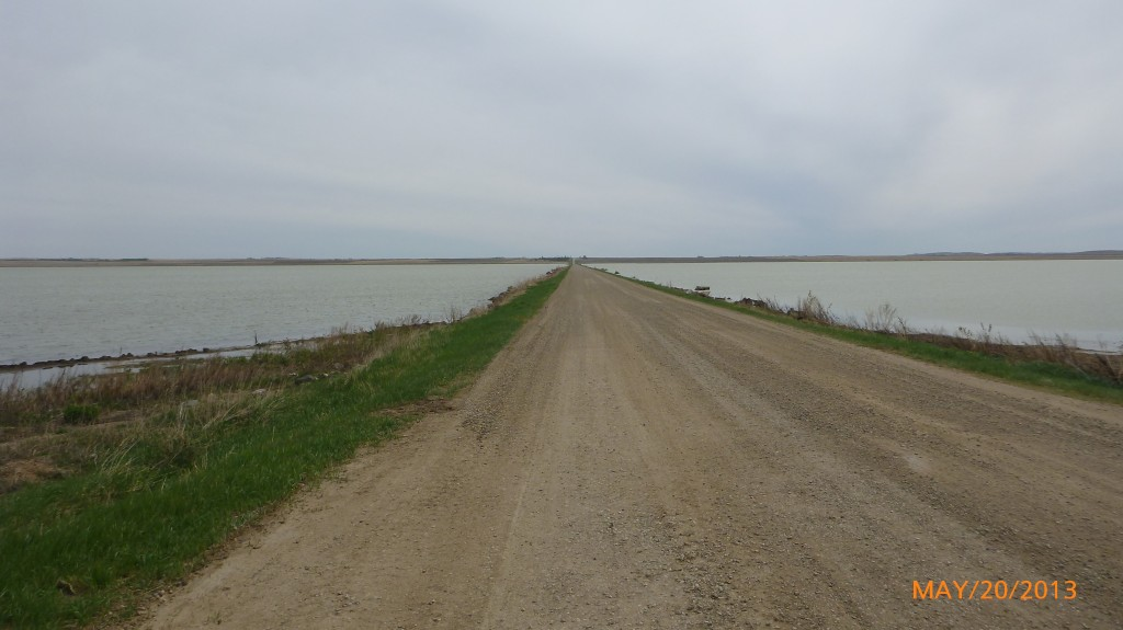 Road across Reed Lake
