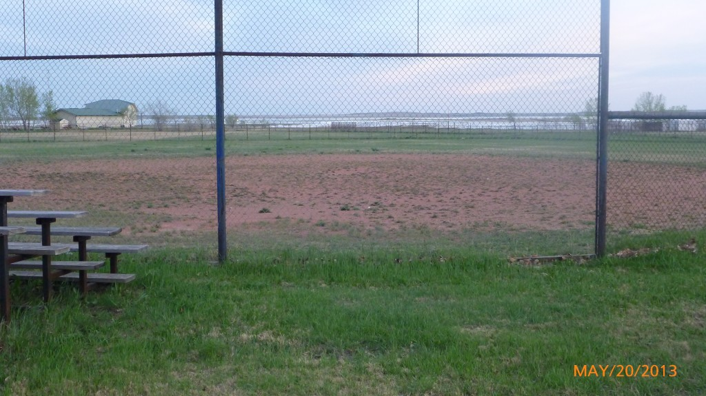 The weeds makes me think this ball diamond doesn't get much use