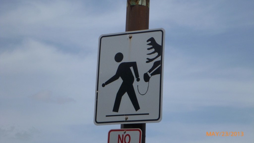 Pedestrian cross walk in Moose Jaw - does this mean you can only cross if walking your moose?