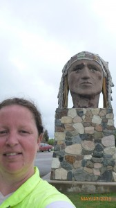 Me in front of the sculpture of an Indian Head in (you guessed it) Indian Head