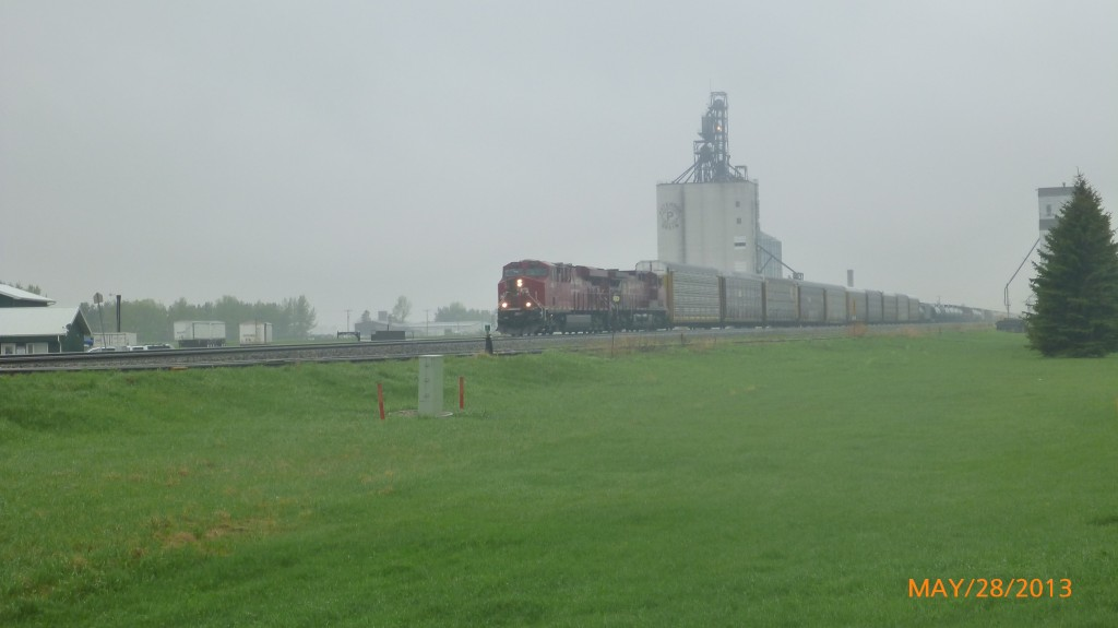 Train heading through Indian Head