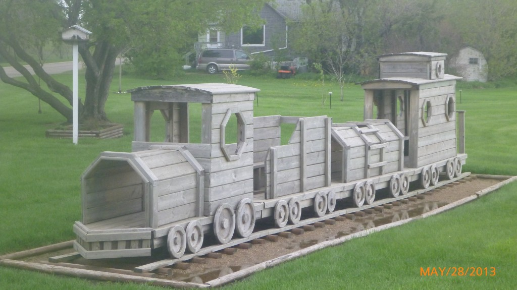 Train in park in Broadview
