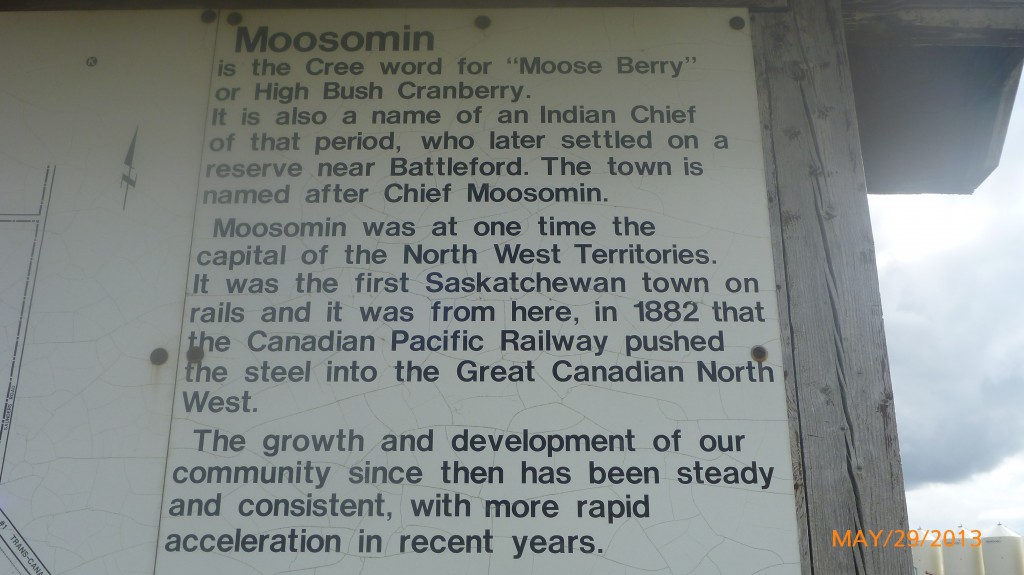 Some info on Moosomin
