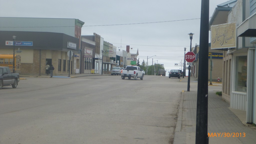 Main street in Moosomin