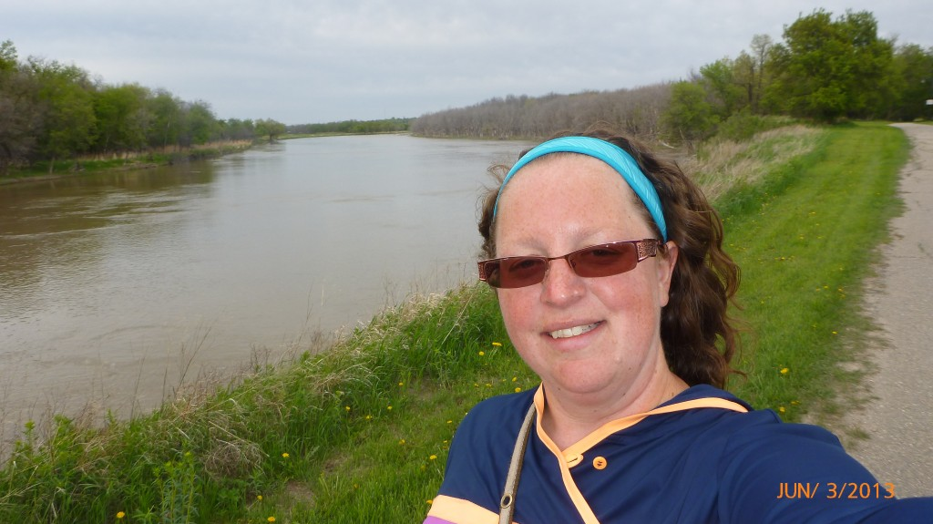 Me beside the Assiniboine River