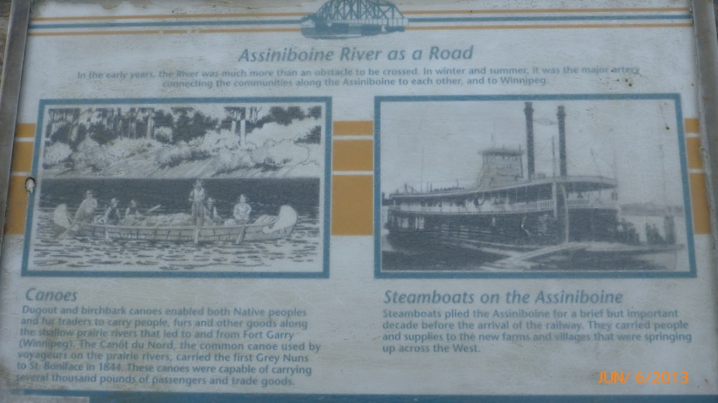 Some info on the importance of the river as a means of transportation over the years