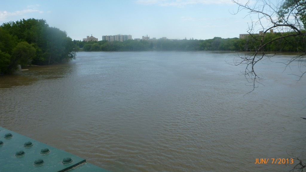 The Red River and Assiniboine River meeting