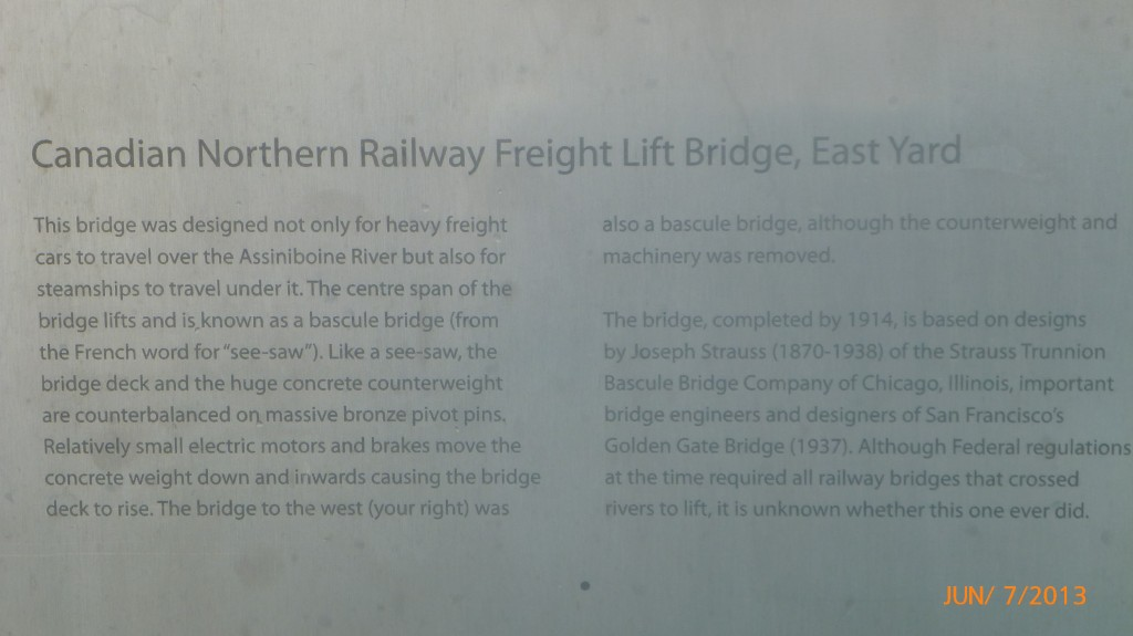 Info on a bridge that crosses the Assiniboine River