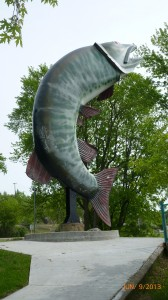 Husky the Musky in Kenora