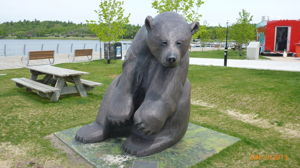 So far I have only seen bears in statue form