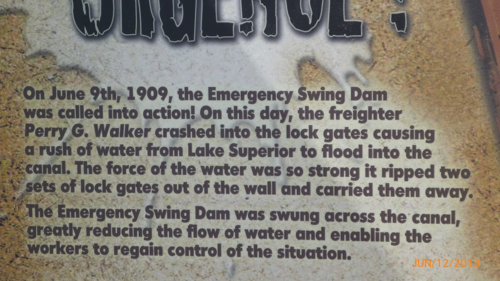 Information on the Emergency Swing Dam in Sault Ste. Marie
