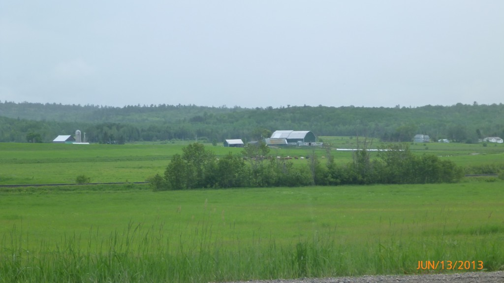 Farmland just west of Bruce Mines