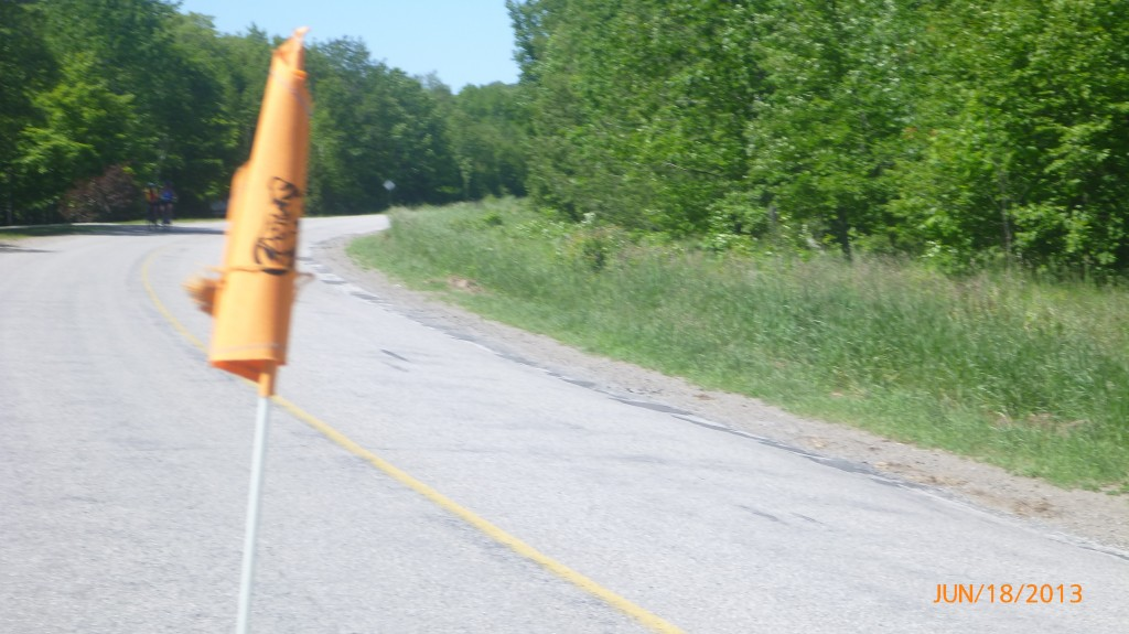 Cycling rd 551 on Manitoulin Island