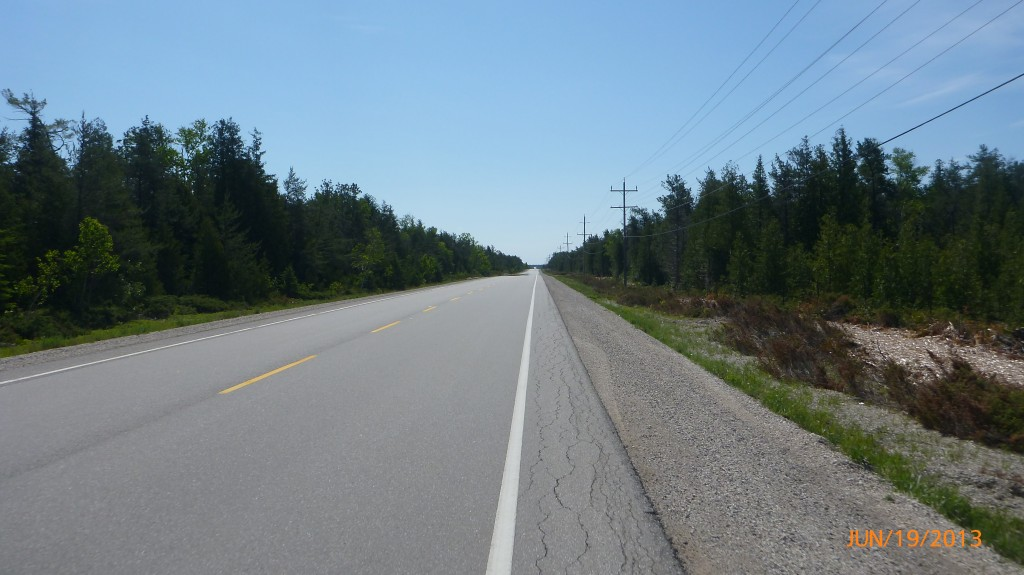 Hwy 6 between Tobermory and Sauble