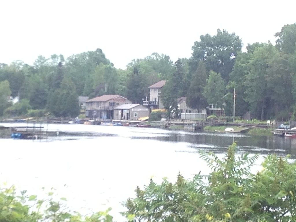 Sauble River Marina and Lodge as seen from the public boat lodge (my parents place - check it out!)