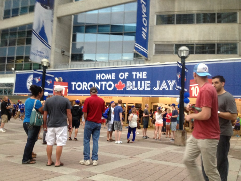 Before the Jays game (my only Toronto pic - I took off the tourist hat while at home for the week!)